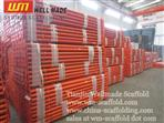 Construction Slab Formwork Vertical Adjustable Scaffolding Steel Prop